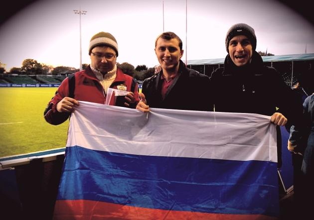 Russian fans for Russia vs. USA
