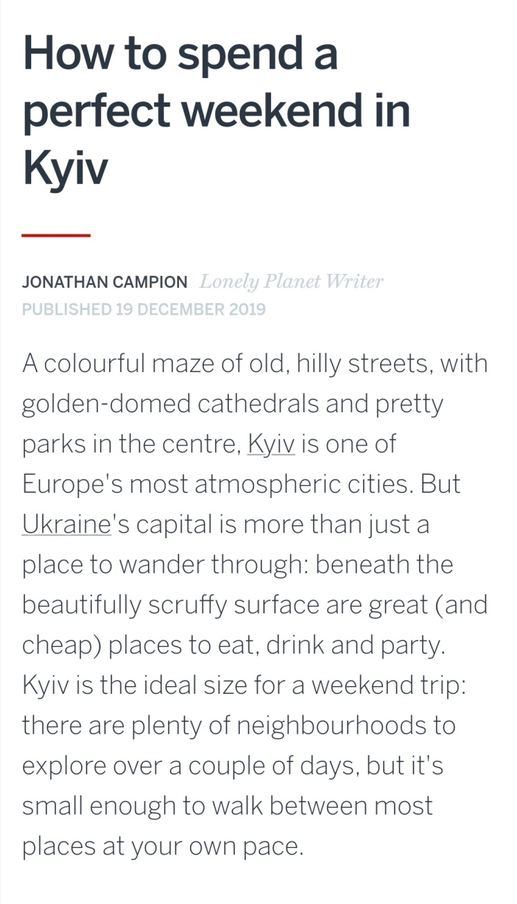 Lonely Planet Kyiv Kiev Ukraine