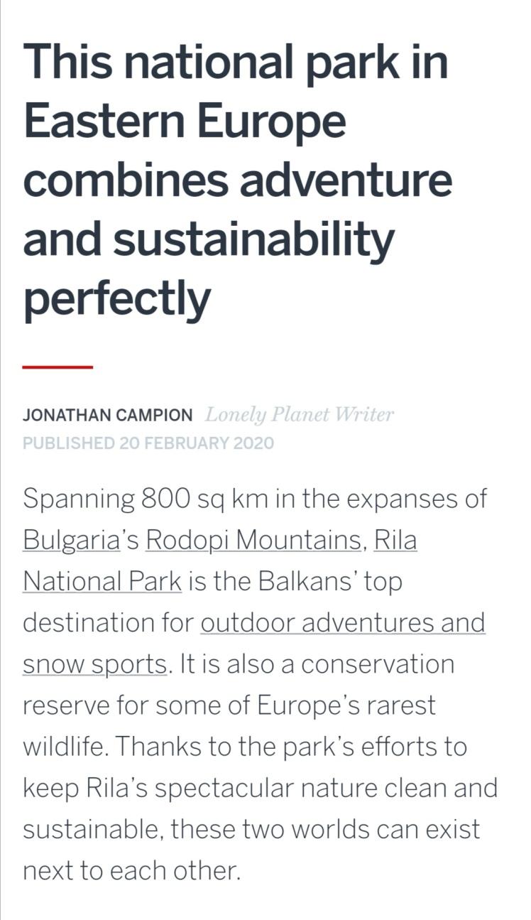 Lonely Planet Rila Borovets Bulgaria